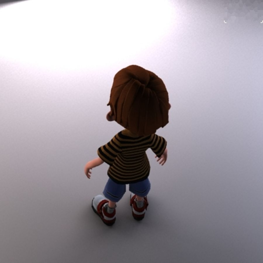 cartoon boy Jack royalty-free 3d model - Preview no. 5