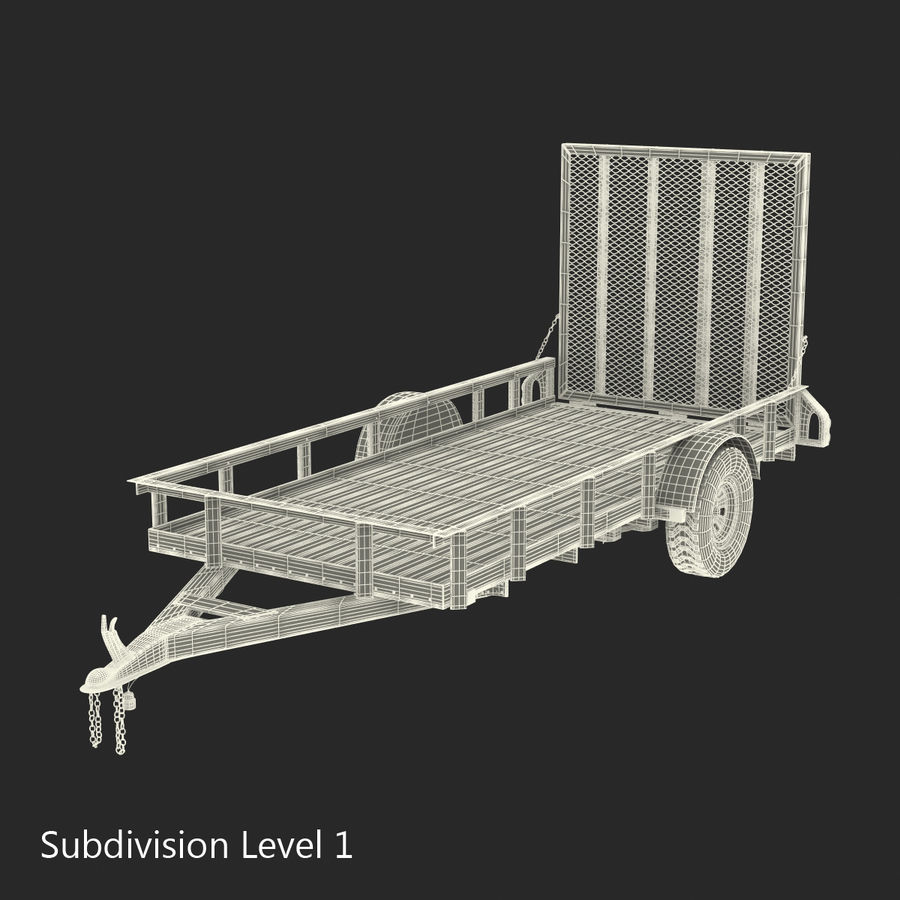 Open Trailer Generic 3D Model royalty-free 3d model - Preview no. 16
