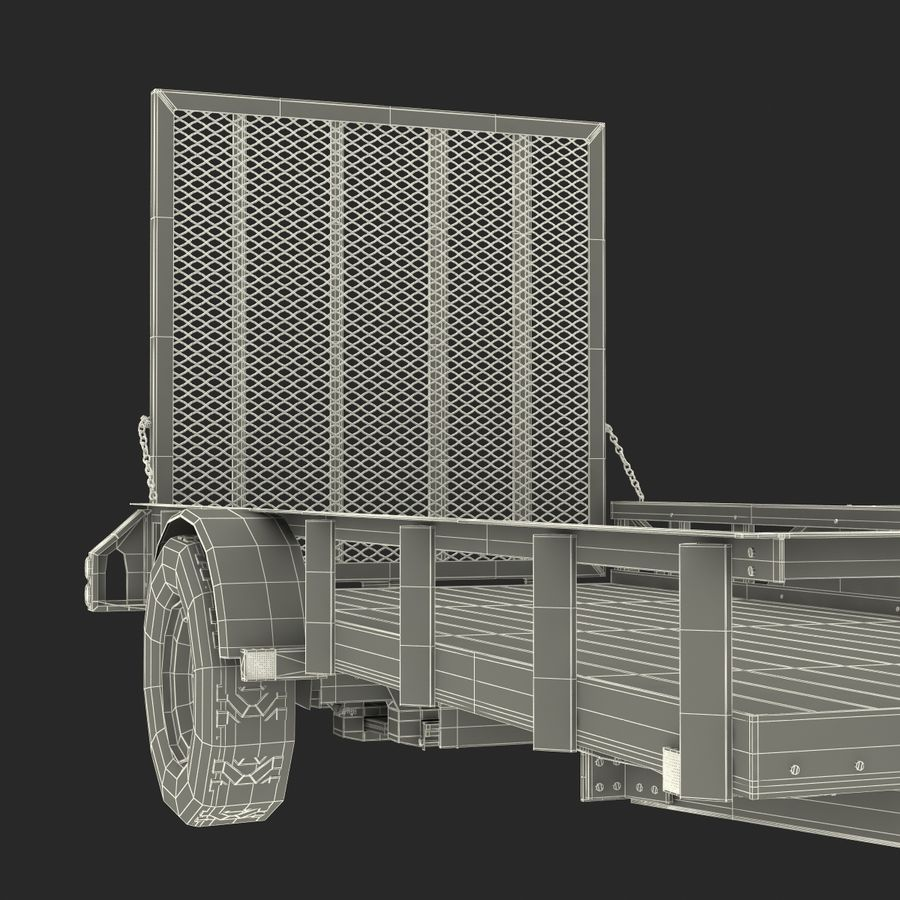 Open Trailer Generic 3D Model royalty-free 3d model - Preview no. 23