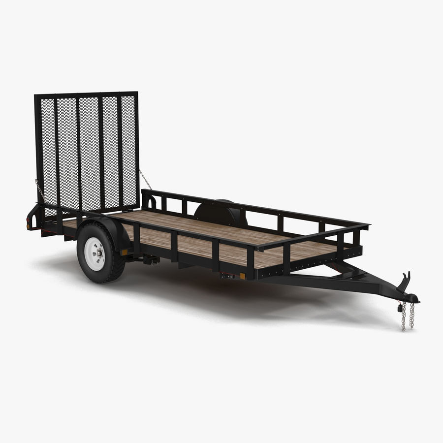 Open Trailer Generic 3D Model royalty-free 3d model - Preview no. 1