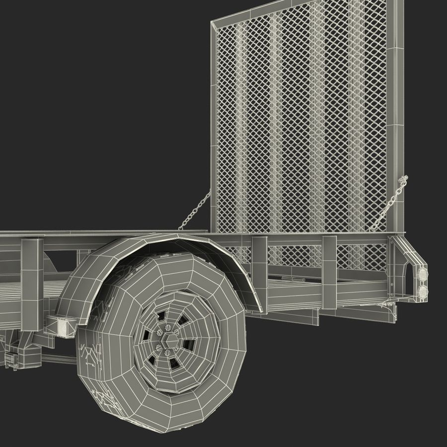 Open Trailer Generic 3D Model royalty-free 3d model - Preview no. 22