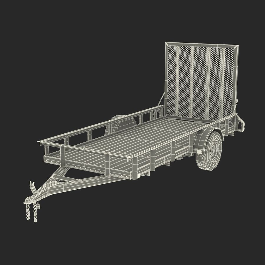 Open Trailer Generic 3D Model royalty-free 3d model - Preview no. 20