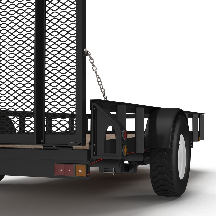 Open Trailer Generic 3D Model royalty-free 3d model - Preview no. 12