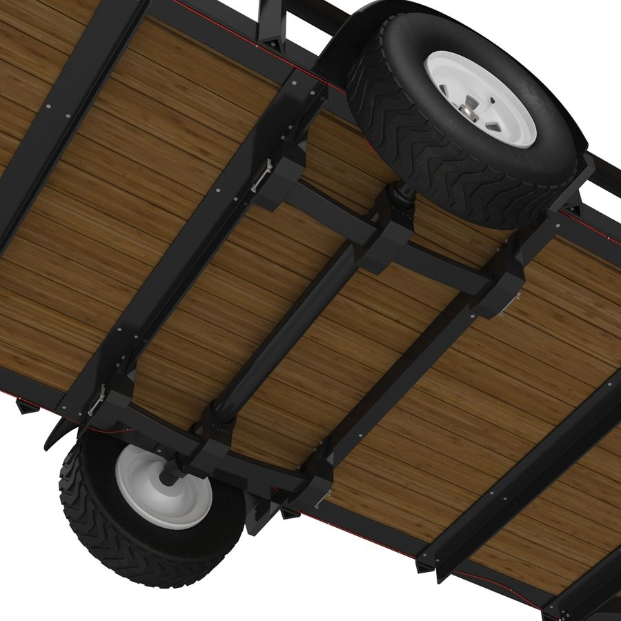 Open Trailer Generic 3D Model royalty-free 3d model - Preview no. 14
