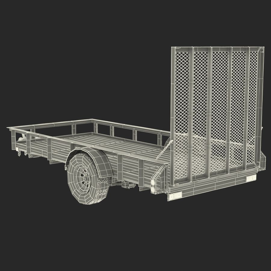 Open Trailer Generic 3D Model royalty-free 3d model - Preview no. 21