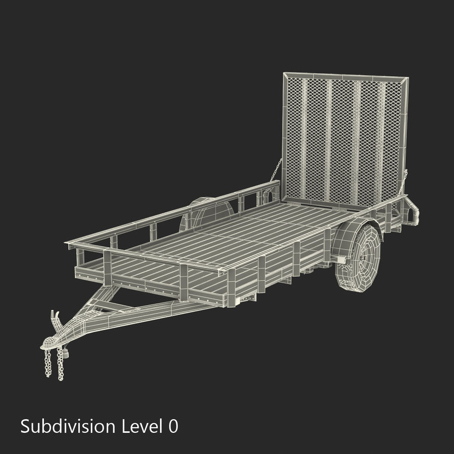 Open Trailer Generic 3D Model royalty-free 3d model - Preview no. 15