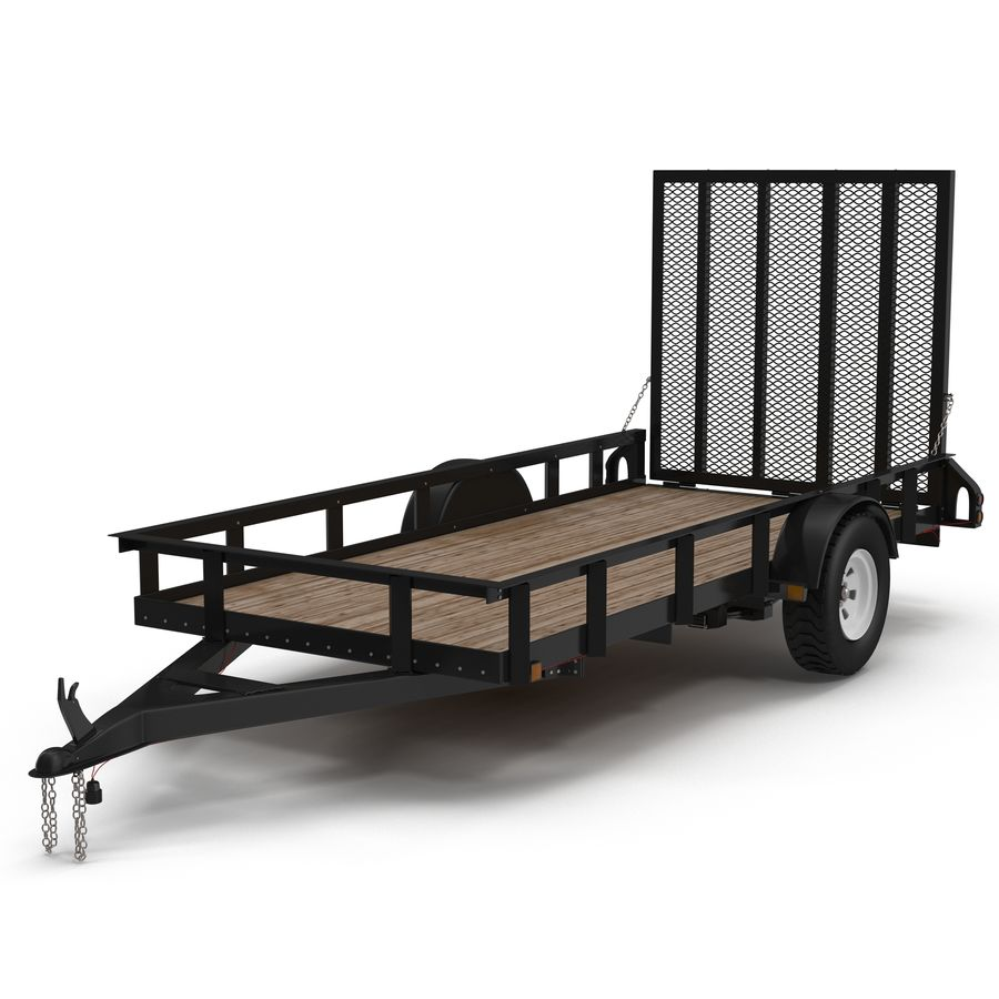 Open Trailer Generic 3D Model royalty-free 3d model - Preview no. 3