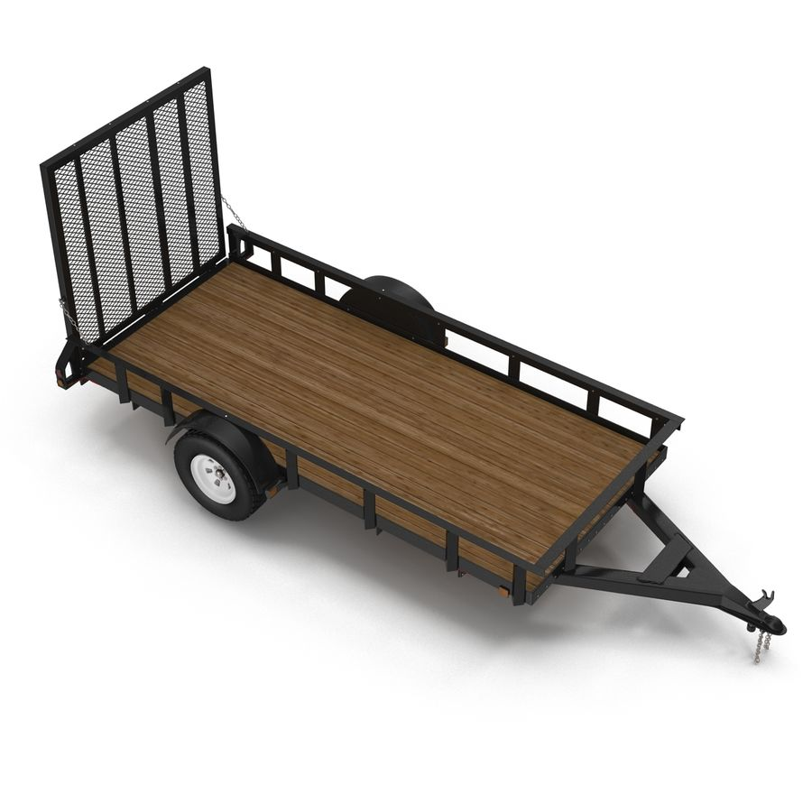 Open Trailer Generic 3D Model royalty-free 3d model - Preview no. 8