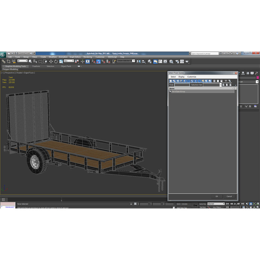 Open Trailer Generic 3D Model royalty-free 3d model - Preview no. 19