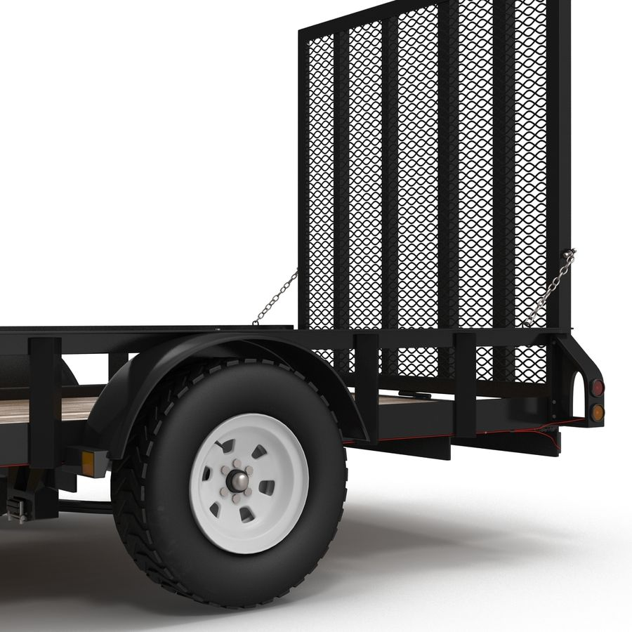 Open Trailer Generic 3D Model royalty-free 3d model - Preview no. 9