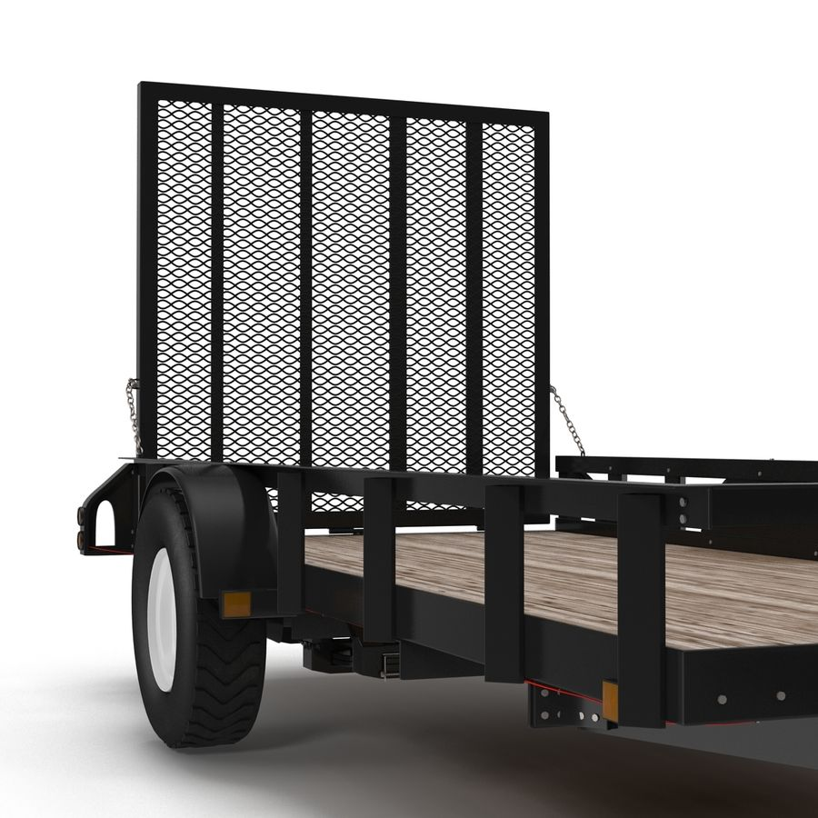 Open Trailer Generic 3D Model royalty-free 3d model - Preview no. 11