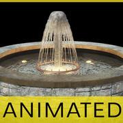 Animated garden fountain 3d model