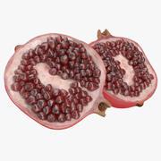 Pomegranate Cross Section 3 3d model