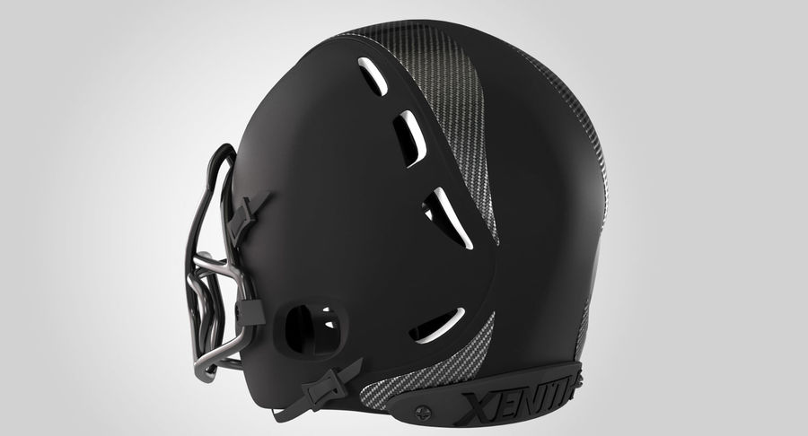 Kask piłkarski Xenith Epic royalty-free 3d model - Preview no. 7