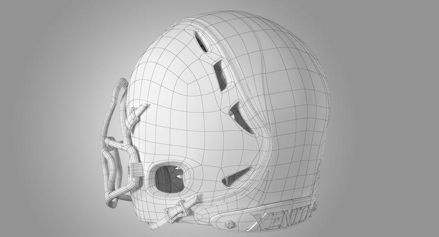 Kask piłkarski Xenith Epic royalty-free 3d model - Preview no. 17