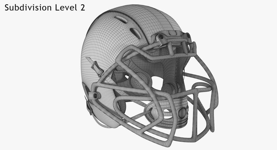 Kask piłkarski Xenith Epic royalty-free 3d model - Preview no. 20
