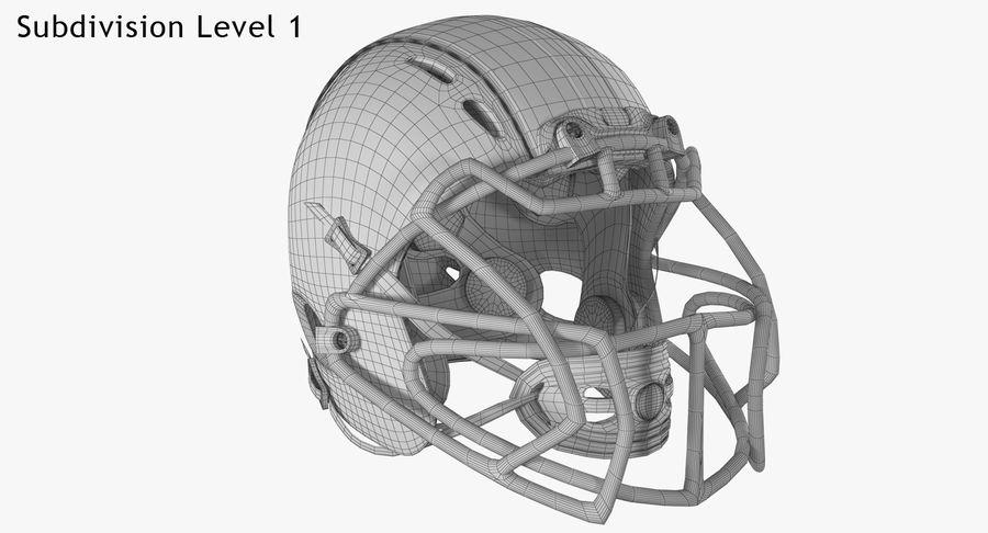 Kask piłkarski Xenith Epic royalty-free 3d model - Preview no. 19