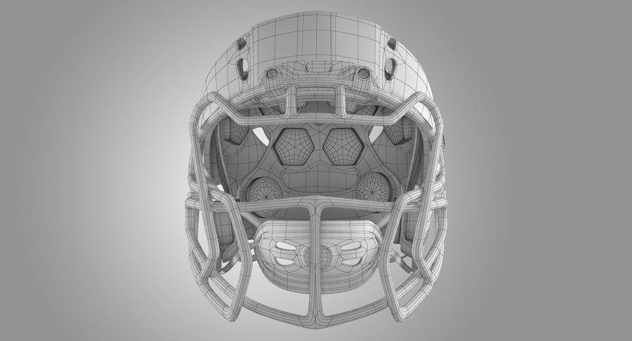 Kask piłkarski Xenith Epic royalty-free 3d model - Preview no. 10