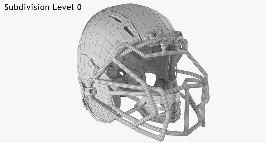 Kask piłkarski Xenith Epic royalty-free 3d model - Preview no. 18
