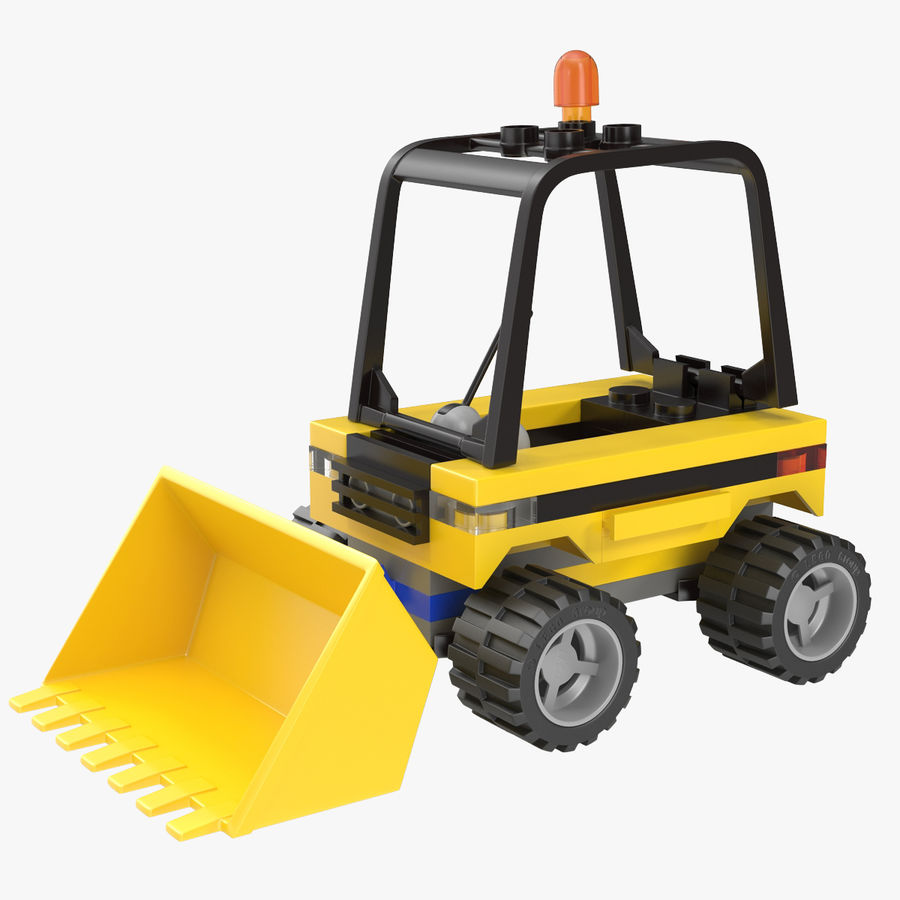 Lego Excavator royalty-free 3d model - Preview no. 1