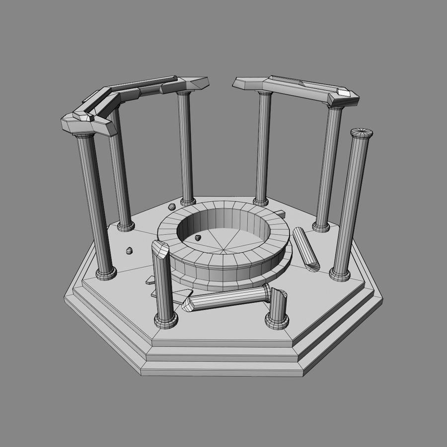 Ancient Ruin royalty-free 3d model - Preview no. 9