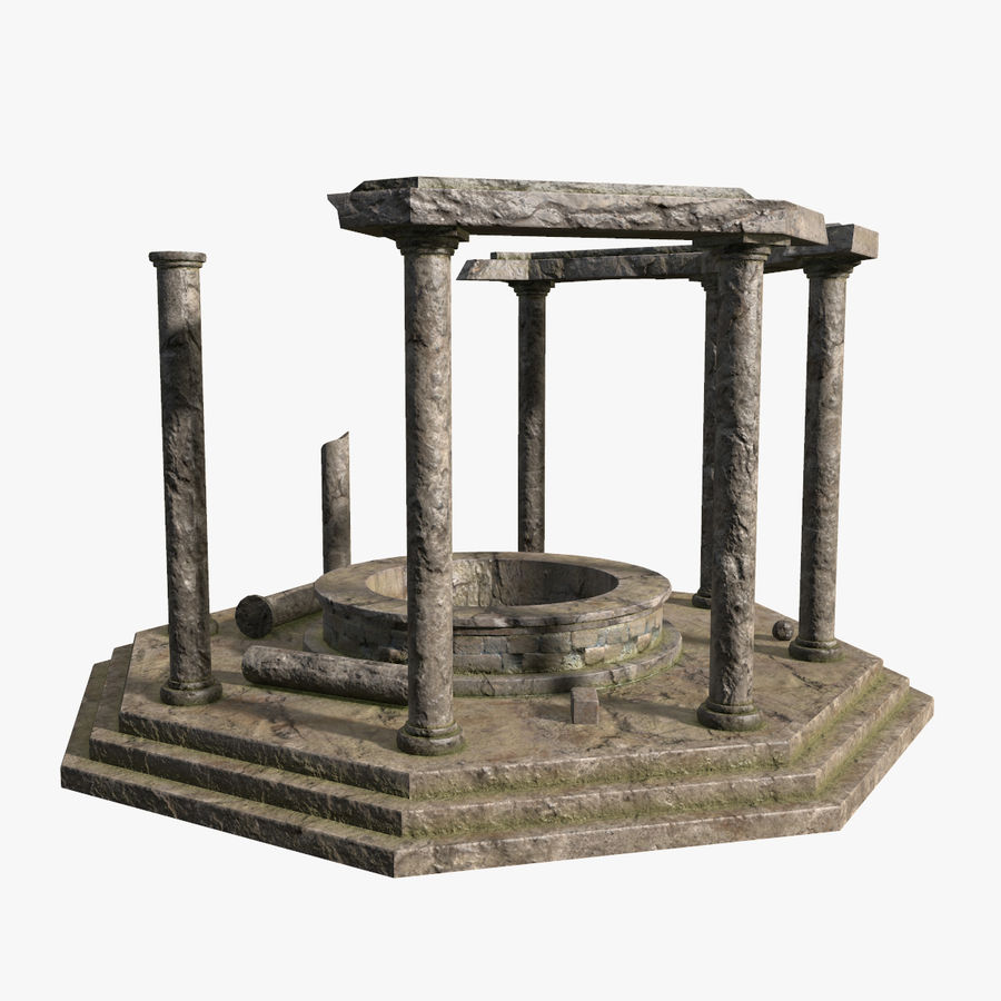 Ancient Ruin royalty-free 3d model - Preview no. 2