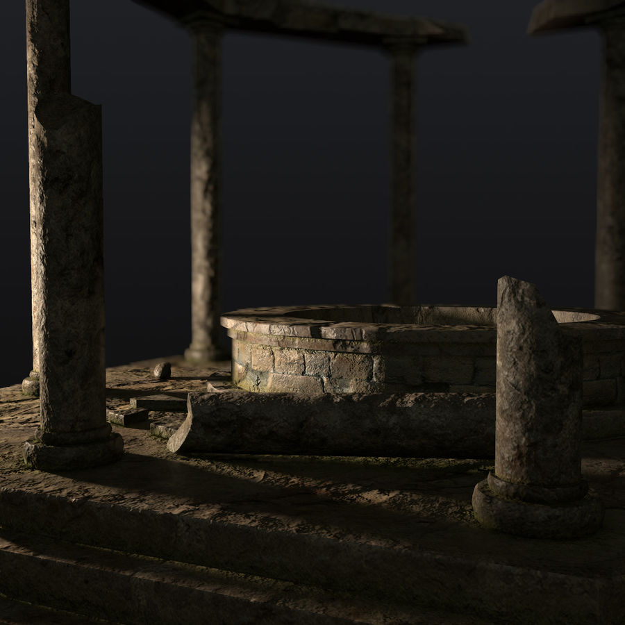 Ancient Ruin royalty-free 3d model - Preview no. 7