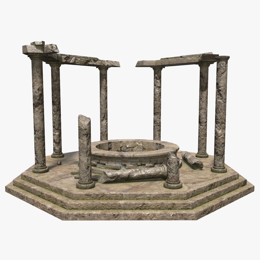 Ancient Ruin royalty-free 3d model - Preview no. 3