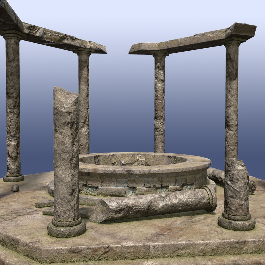 Ancient Ruin royalty-free 3d model - Preview no. 6