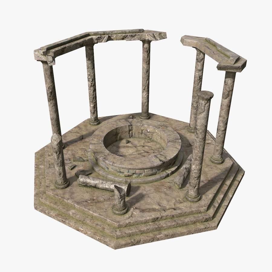 Ancient Ruin royalty-free 3d model - Preview no. 1