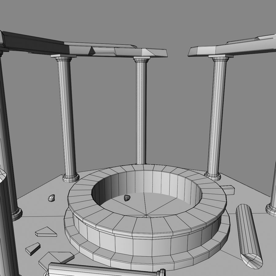 Ancient Ruin royalty-free 3d model - Preview no. 11