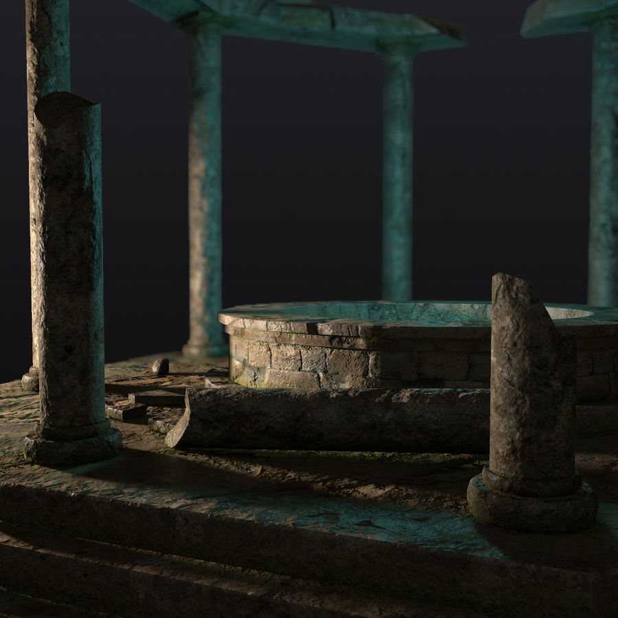 Ancient Ruin royalty-free 3d model - Preview no. 8