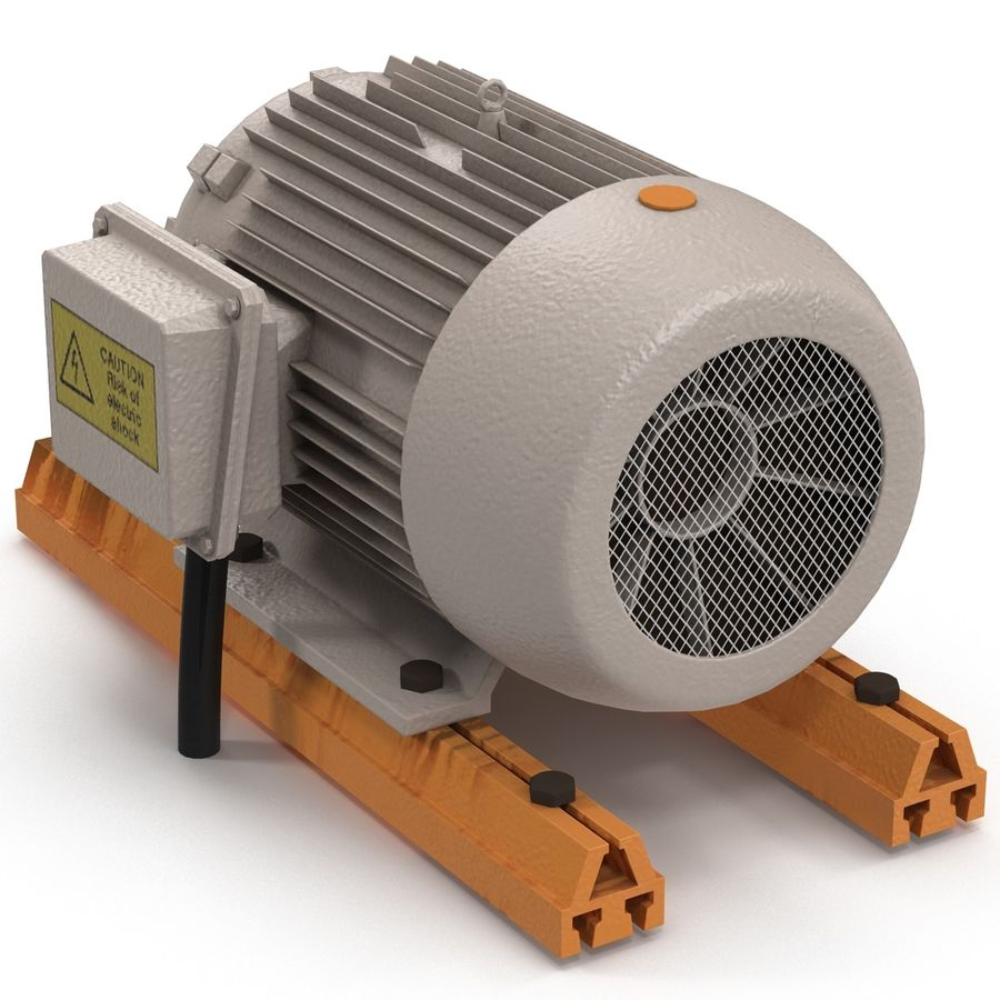 Electric Motor 2 royalty-free 3d model - Preview no. 9