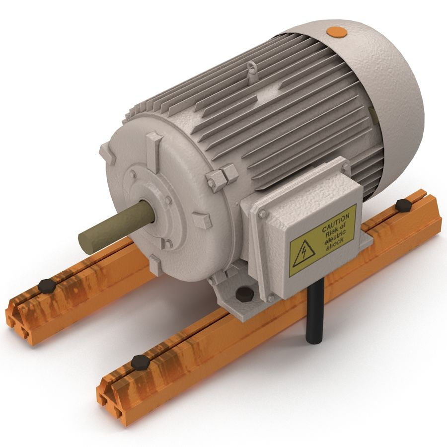 Electric Motor 2 royalty-free 3d model - Preview no. 4