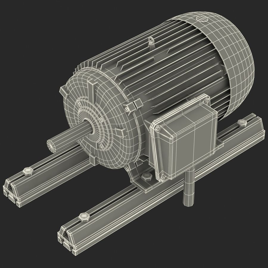 Electric Motor 2 royalty-free 3d model - Preview no. 15