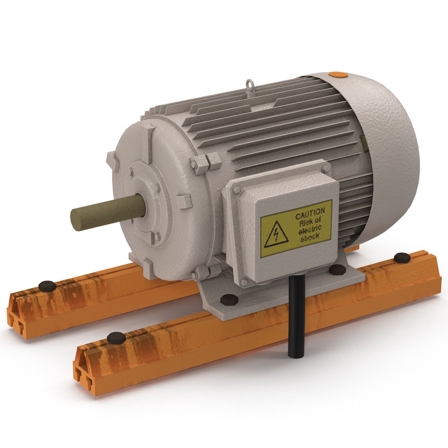 Electric Motor 2 royalty-free 3d model - Preview no. 2