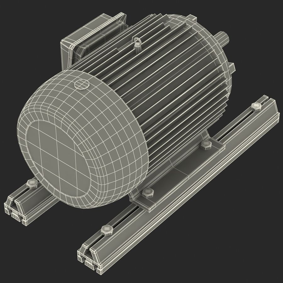 Electric Motor 2 royalty-free 3d model - Preview no. 16