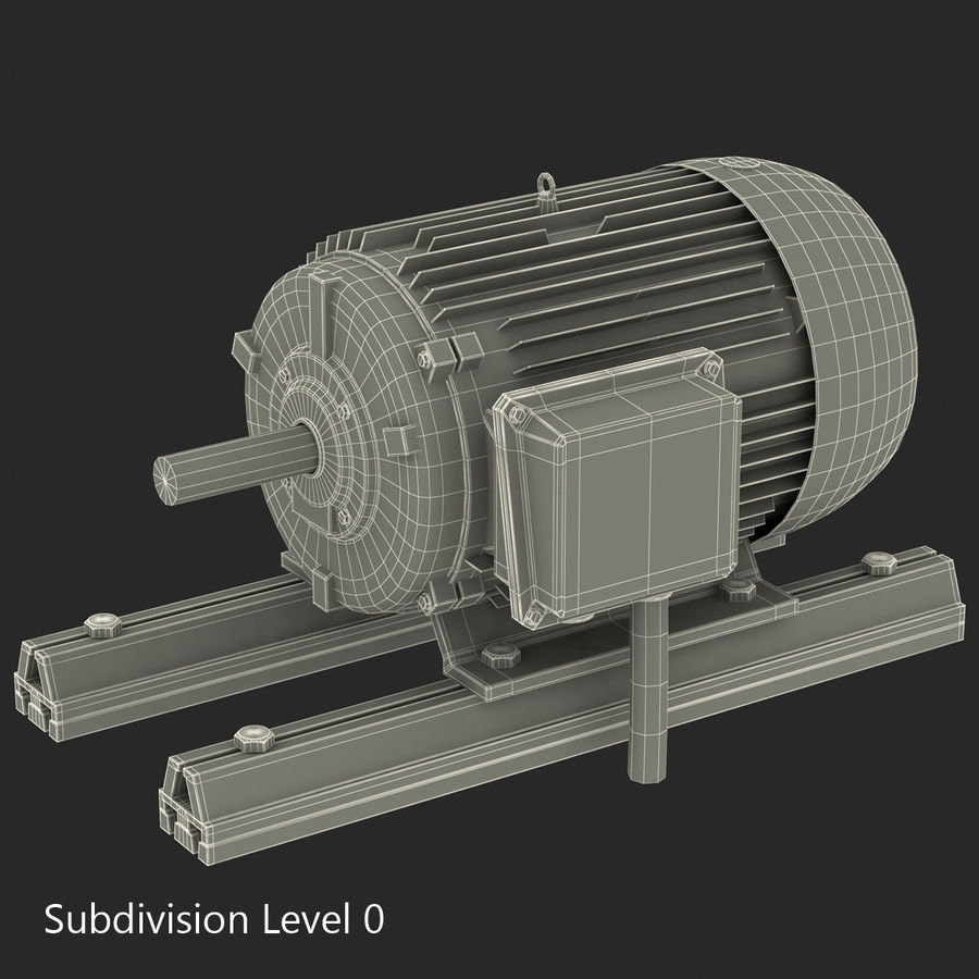 Electric Motor 2 royalty-free 3d model - Preview no. 10