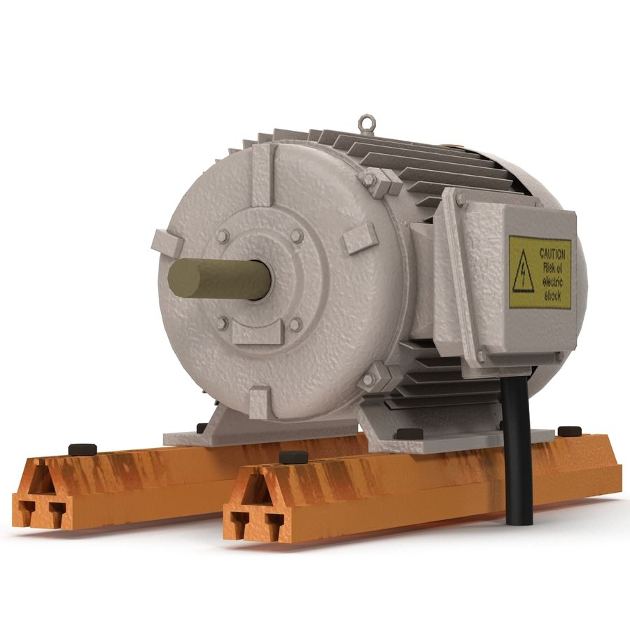 Electric Motor 2 royalty-free 3d model - Preview no. 8