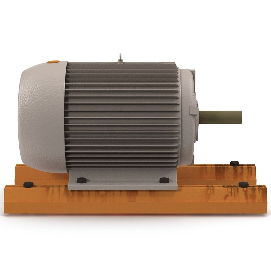 Electric Motor 2 royalty-free 3d model - Preview no. 6