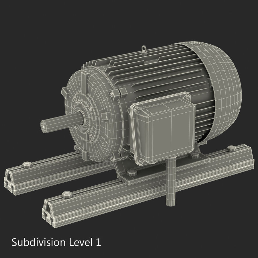 Electric Motor 2 royalty-free 3d model - Preview no. 11
