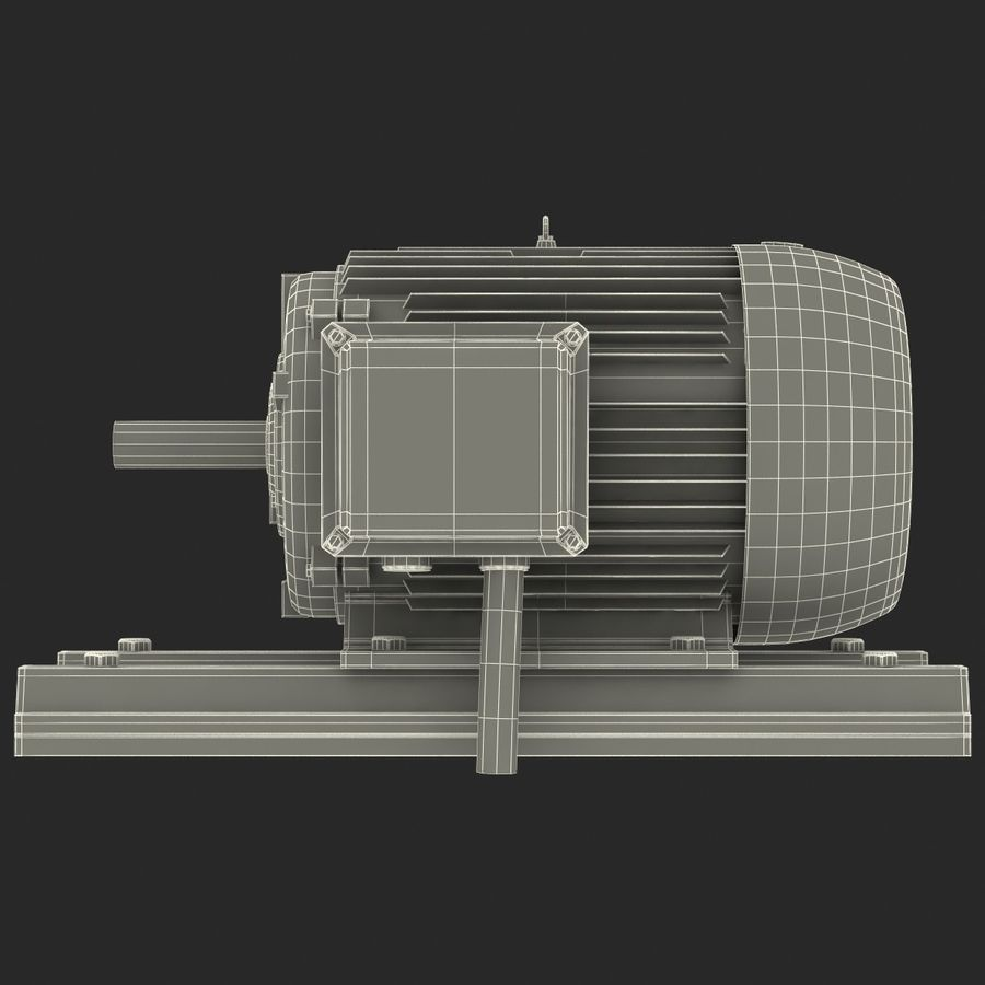Electric Motor 2 royalty-free 3d model - Preview no. 17