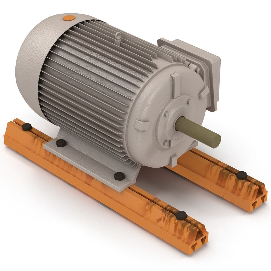 Electric Motor 2 royalty-free 3d model - Preview no. 5