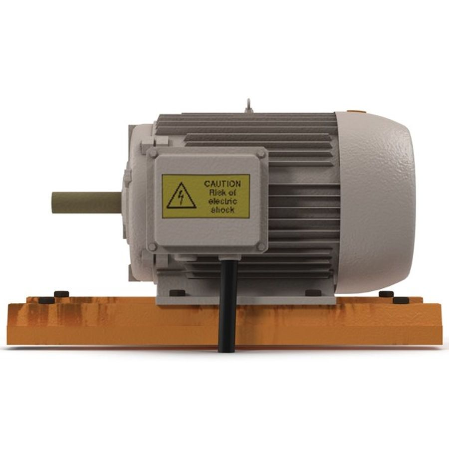Electric Motor 2 royalty-free 3d model - Preview no. 7