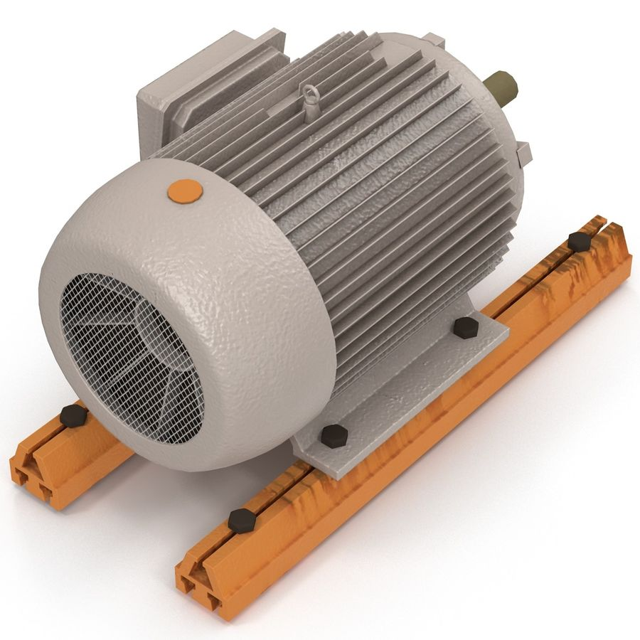 Electric Motor 2 royalty-free 3d model - Preview no. 3