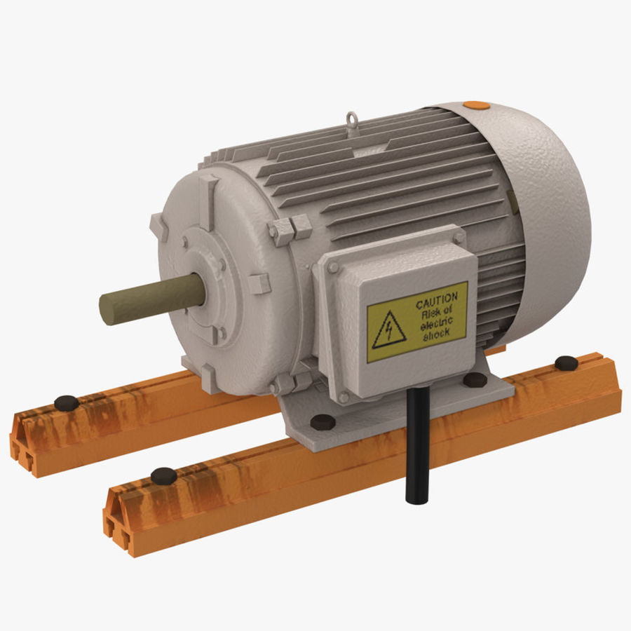 Electric Motor 2 royalty-free 3d model - Preview no. 1