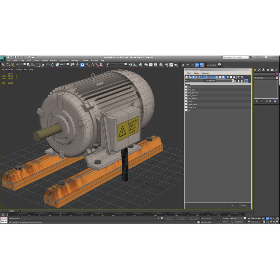Electric Motor 2 royalty-free 3d model - Preview no. 14