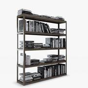 Axel dubbele boekenkast - natuurlijk 3d model