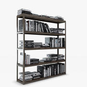 Axel Double Bookcase - Natural 3d model