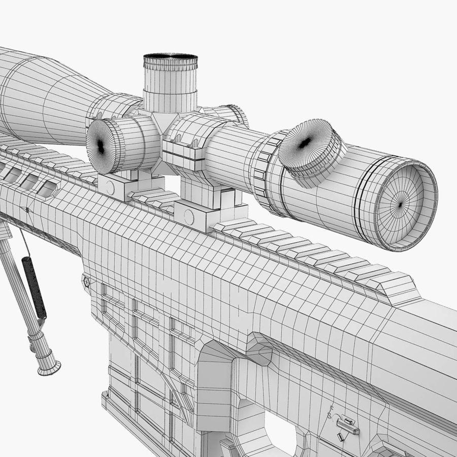 Sniper rifle Barrett M98B royalty-free 3d model - Preview no. 20
